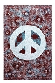 Blue Peace Sign (Splatter) Tapestry