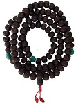 Mala Beads - Bodhi Seeds with Turquoise Mala Meditation Beads