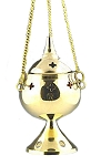 Charcoal Burner - Brass Hanging Incense Burner 5