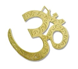 Engraved OM Symbol Brass Wall Hanging (large)