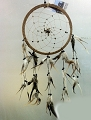 Dreamcatcher - Dreamcatcher Tiger Eye Beads Spiral Web Brown