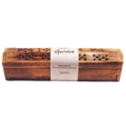 Wooden Brown Incense Burner w/Vanilla Incense Sticks & Incense Cones