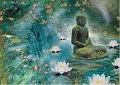 Healing Thoughts Floating Lotus Greeting Card