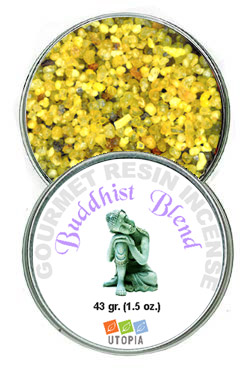 Gourmet Resin Incense - Buddhist Blend 1.5 oz. Tin