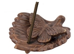 Incense Burner - Ceramic Butterfly on Leaf