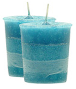 Carribean Nights Crystal Journey Traditional Votive Candle - 2 Candles