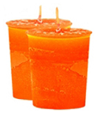 Peach Crystal Journey Traditional Votive Candle - 2 Candles
