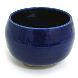 Cobalt Blue Japanese Handthrown Ceramic Bowl Burner