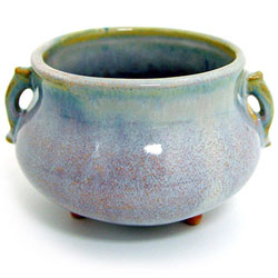 Ceramic Japanese Handthrown Bowl - Wisteria