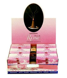 Fresh Rose Incense - Cones