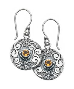 Citrine Flower Earrings - Tibet Collection Jewlery