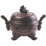 Incense Burner - Chinese Clay Urn Censer/Burner - 6.5