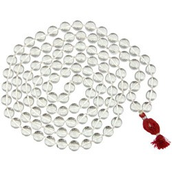 Mala Beads - Clear Quartz Mala Meditation Beads