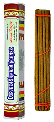 Dorjee Samba Tibetan Incense - 25 Sticks - 6""