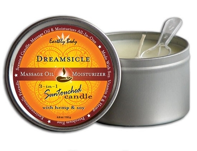 Earthly Body 3-in-1 Suntouched Massage Oil Candle - Dreamsicle (Tangerine Plum)