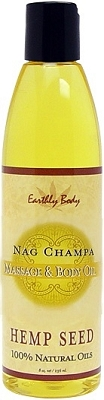 Earthly Body Massage & Body Oil - Nag Champa 8 oz.