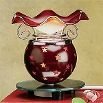 Electric Oil Burner - Red Stars