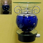 Electric Oil Burner - Electric Night Lite Oil Burner Blue Stars