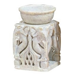 Oil Burner - Soapstone Elephant House