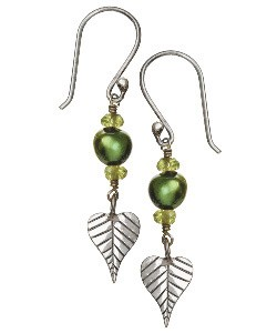 Evergreen Bodhi Leaf Earrings - Tibet Collection Jewlery