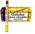 Goloka - Nag Champa Incense - Agarbathi (Stick Incense 8 Grams)