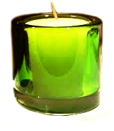 Votive Holder - Green Glass
