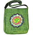 Hemp Shoulder Bag with OM Symbol (Green)