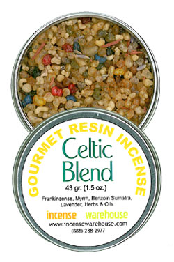 Gourmet Resin Incense - Celtic Blend 1.5 oz. Tin