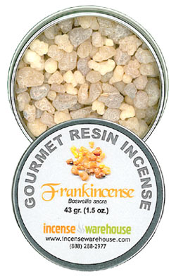 Gourmet Resin Incense - Frankincense 1.5 oz. Tin