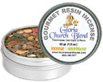 Gourmet Resin Incense - Gloria Church Blend 1.5 oz. Tin