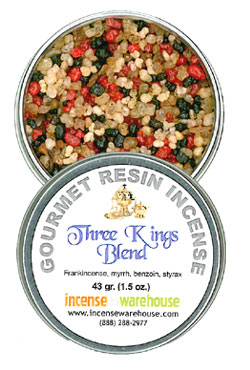 Gourmet Resin Incense - Three Kings 1.5 oz. Tin