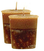 Hazelnut Coffee Crystal Journey Traditional Votive Candle - 2 Candles