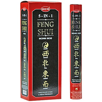 Hem 5 in 1 Feng Shui  - 20 Stick Hex Packs - 5 Scents/pack