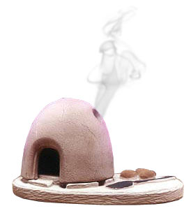 Incienso de Santa Fe Horno Oven Incense burner w/Pinon Incense