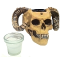 Skull w/Horns Candle Holder / Ashtray