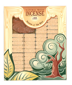 Incienso de Santa Fe - Mesquite Incense - 100 Bricks with Holder