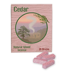 Incienso de Santa Fe - Cedar Incense - 20 Bricks