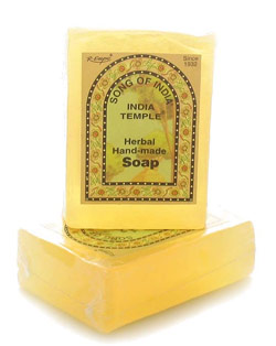 Song Of India - India Temple Herbal Soap - 3.8 Ounce Bar