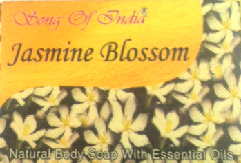 Song of India Herbal Soap with Essential Oils - Jasmine Blossom