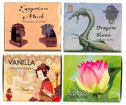 Kamini Cone Kit #2 - Egyptian Musk, Dragon's Blood, Lotus & Vanilla