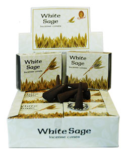 Kamini Cone Incense - White Sage Incense Cones