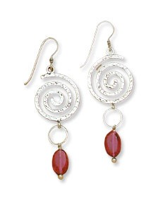 Kundalini Spiral Earrings With Amethyst