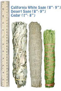 "Large Bundle Sampler  (White Sage, Desert Sage & Cedar) 7"" - 9"" Bundles"