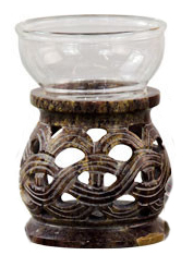 Oil Burner - Natural Soapstone Oil Burner