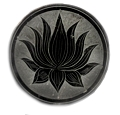 Lotus Black Stone Round Incense Burner