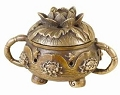 Bronze Lotus Charcoal Burner