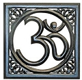 Mangowood Wall Hanging Hand Carved OM Symbol