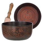 Embossed Medicine Buddha Singing Bowl - 8""