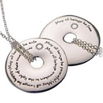 Engraved Metta Prayer Sterling Silver Necklace