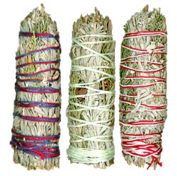 "Premium Mini Smudge Sampler - 4"" (Mountain Journey, Lavender Fields & Ceremonial Sweetcense)"